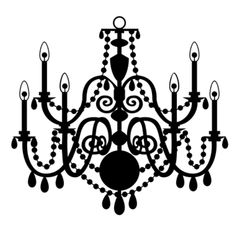 Large silhouette chandelier decoration the grandelier paper vector chandelier isolated on the white background stock photo aloadofball Gallery