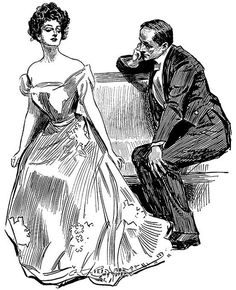 Gibson Girl - that haughty expression!
