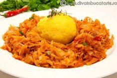 VARZA CALITA DE POST | Diva in bucatarie Romanian Food, Cabbage Recipes, Risotto, Macaroni And Cheese, Vegetarian Recipes, Vegan, Vegetables, Ethnic Recipes, Pork