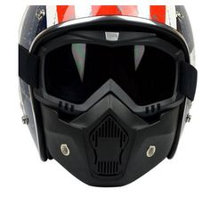 b45920f718e Beon Motorcycle Riding Mask with Goggle Open Face Motorcycle Helmets