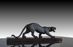 Art deco French Irénée Rochard panther. Irénée ROCHARD 1906-1984 Française sculpteur animalier