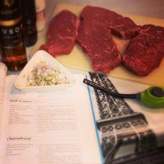 """Steak au poivre """"in the making"""""""