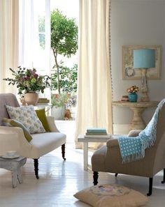 dyingofcute:  a serene living with a balcony