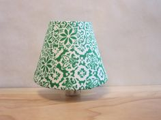 Nighty Night Light Shade Covered in Vintage Fabric by PassThePeas, $16.00