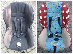 Nadelzauber: Ein neuer Bezug für den Auto-Kindersitz (mit Anleitung)