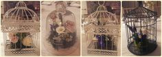 Birdcage centrepieces at a recent wedding in Ballymagarvey - very vintage! #centrepieces #vintaeweddings #tableideas