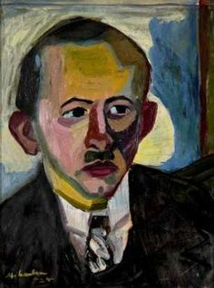 PORTRAIT OF A MAN WITH A MOUSTACHE By Maggie Laubser 1924