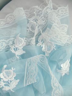 Beautiful lace and color combination ~❥