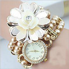 bohemian stijl studenten kijken imitatie parel armband watch... – EUR € 11.99