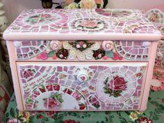 Pink China Mosaic Kitchen Breadbox  by hillspeak, via Flickr