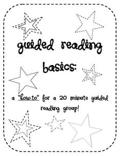All you'll ever need to do a 20 minute guided reading group! A simple step-by-step procedure walks you through the process, what to get ready before hand, and what to do after!