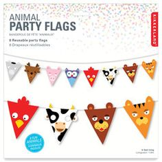 Animal themed party bunting | Paper Products Online