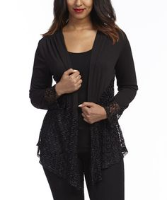 Love this Gold & Gray Medallion Drape Open Cardigan by funsport on ...