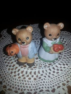 A Vintage Pair of Homco Bears-Couple of Bears by ZiggyzAttic