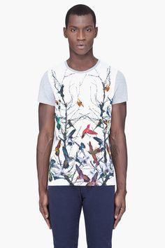 MCQ ALEXANDER MCQUEEN Grey Hummingbird T-Shirt