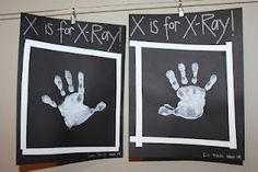 black paper, white paint - x-rays!