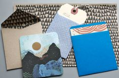 beautiful handmade envelopes -- from habit of art.