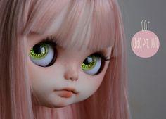 Blythe custom factory FACEPLATES by Cristina Quero