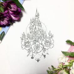 Disney Tattoo Vorlagen Disney Castle Silhouette