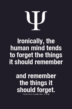 Could you...trick it into thinking the thing is something you should forget?