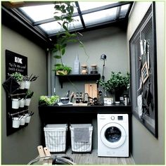 153 laundry design ideas with drying room that you must try page 14 Laundry Room Design, Home Room Design, Interior Design Living Room, Living Room Designs, Outdoor Laundry Rooms, Small Laundry Rooms, Basement Laundry, Laundry Shelves, Outdoor Kitchens