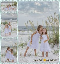little girls, sisters, secrets, girl beach poses, girl poses, family beach pictures, beach poses, white dresses