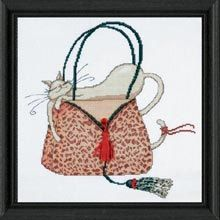 Cross Stitch Kit  Leopard Purse with Cat by CrossStitchKitsOnly, $17.50