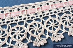 MyPicot | Free crochet patterns Crochet Circle Edging: Diagram + step by step instructions