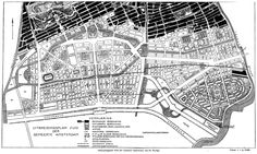 H.P. Berlage, Final plan for Amsterdam South, 1915