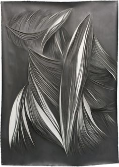 Carbon VII, 2013, cut paper and graphite, 160x120 cm Mathilde Roussel