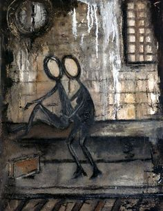"""Stickmen""  canvas and poster prints"