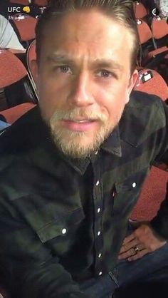 Charlie Hunnam making faces 2016 Houston