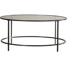 """Clean-lined with classic tones, this coffee table is a modern twist on traditional. Its streamlined silhouette and open base contribute to its minimalist, industrial feel, while its sizable 42"""" W x 24"""" D tabletop provides a place to show off magazines, books, and framed photos. Assembly is required."""