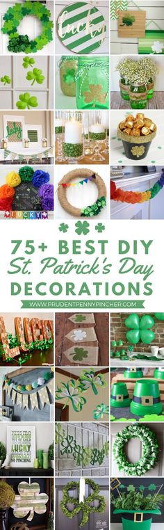 75 Best St Patrick s Day Decor Ideas Go green with theseSt. Patricks Daydecor ideas. From festive wreaths to shamrock decorations there are plenty of DIY St. Patricks Day decor ideas here to inspire you. St. Patricks Day Party Ideas Shamrock Balloons from Oh Happy Day Paper Strip Shamrocks from Sugar Bee Crafts DIY Easy Paper Clover Ornament from Useful DIY Irish Coffee