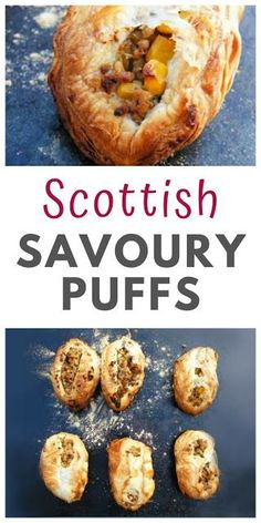Simple puff pastry parcels filled with a savoury veggie haggis filling. This Scottish recipe is good for packed lunches or served hot with tatties and neeps. Vegetarian Pasties, Vegetarian Haggis, Haggis Recipe, Vegan Recipes, Cooking Recipes, Easy Recipes, Rough Puff Pastry, Recipe Generator, Scottish Recipes