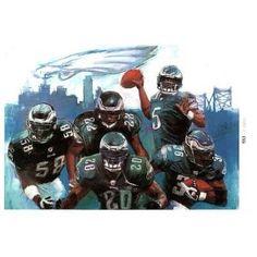 Philadelphia Eagles (Donovan McNabb, Brian Westbrook, Brian Dawkins, Trent Cole, Asante Samuel) Sports Poster Print