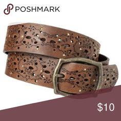 051ec0856869 Mossimo laser cut stud belt New condition ! Brown Accessories Belts  Designer Belts