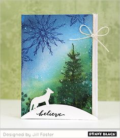 Featuring stamps and dies from Penny Black's newest release, Winter Romance