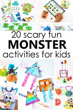 20 silly monster activities to get preschoolers laughing and learning in no time with educational games and play activities for a preschool monster theme! Monster Activities, Toddler Activities, Monster Games, Fun Learning, Learning Activities, Preschool Learning, Fun Educational Games, Library Activities, Halloween Activities For Kids