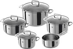 Zwilling Quadro Five-Piece Stainless Steel Cooking Pot Set Pot Sets, Herd, Cookware Set, Kitchenware, Kitchen Appliances, Stainless Steel, Cooking, Things To Sell, Products
