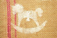 Schaukelpferd Jute, Home Decor, Rocking Horse Toy, Gifts, Homemade Home Decor, Decoration Home, Utah, Burlap, Interior Decorating