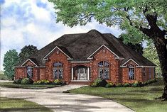 House Plan 82156 | European    Plan with 2833 Sq. Ft., 4 Bedrooms, 3 Bathrooms, 2 Car Garage