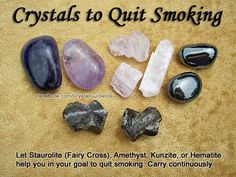 Crystals to quit smoking