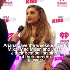Ariana Grande fact by @buterafacts