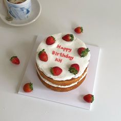 Pretty Birthday Cakes, Pretty Cakes, Cake Birthday, Birthday Cake Decorating, Mini Cakes, Cupcake Cakes, Frog Cakes, Simple Cake Designs, Pastel Cakes