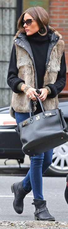 Olivia Palermo - Purse - Hermes Jacket and sweater - Zadig & Voltaire Sunglasses - Diorzeli similar style sunglasses Dolce & Gabbana DG4141 similar style bracelets Michael Kors Very Hollywood Deco Link Bracelet Jules Smith Alex Chain Maille Bracelet