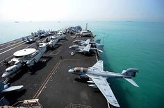 SINGAPORE (April 4, 2013) The Nimitz-class aircraft carrier USS John C. Stennis (CVN 74) gets underway. (U.S. Navy Photo by Mass Communication Specialist Seaman Apprentice Ignacio D. Perez/Released)