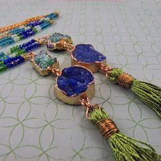 Excited to share the latest addition to my #etsy shop: Rock Candy Tassel Necklace, Key West, tassel necklace, festival jewelry, boho fringe jewelry, tassel jewelry, raw stone by reynared http://etsy.me/2nVAX3R #jewelry #necklace #rawstone #rockcandy
