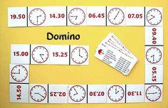 Uhrzeit-Domino