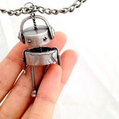 robot necklace $25